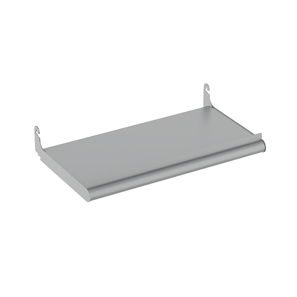 METAL BULLNOSE SHELF W/ LIP
