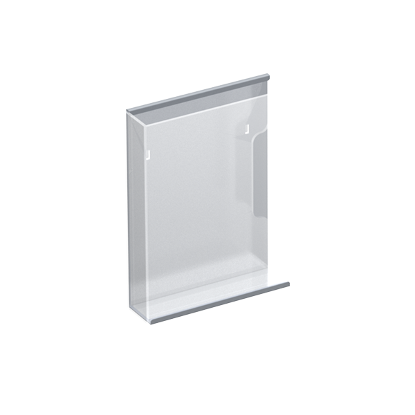 ACRYLIC / METAL MAGAZINE HOLDER FOR PERFORATED PANEL