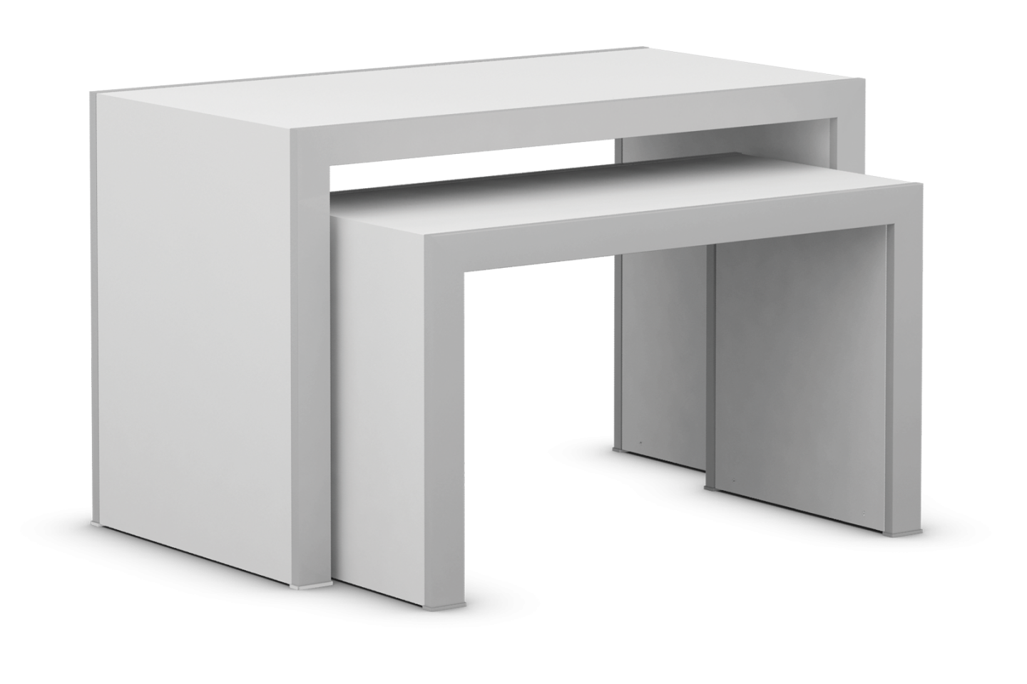 Edge Collection Metal Frame Table Set with Laminated Tops and Sides