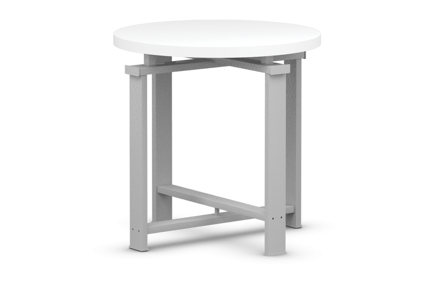 Edge Collection Round Table with Laminated Top