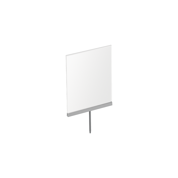"8-1/2""W X 11""H FOLDED ACRYLIC SIGN HOLDER WITH STEM"