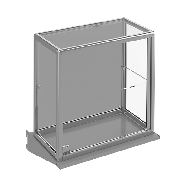 LOCKING SHOWCASE W/GLASS SHELF