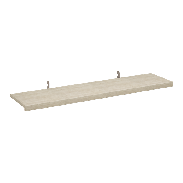 REVEAL LAMINATED SHELF W/ INSET BRACKETS