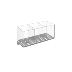 DIVIDED ACRYLIC BIN FOR PERFORATED PANEL
