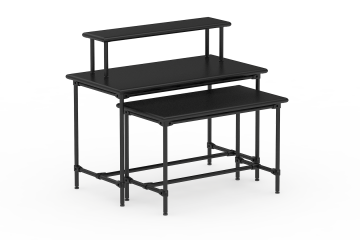 Classic Collection 4-Sided Metal Bullnose Nesting Table Set