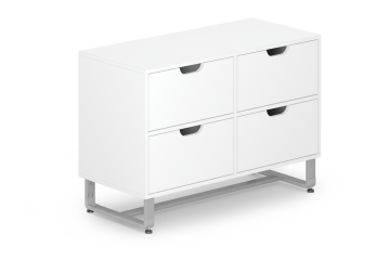 Reveal Collection 4-Drawer Laminated Cabinet