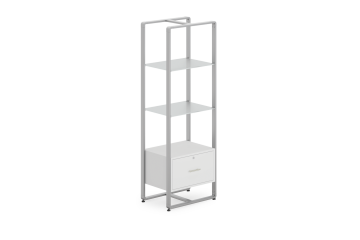 Reveal Collection Tall Etagere with Locking Cabinet