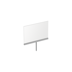 "11""W X 8-1/2""H FOLDED ACRYLIC SIGN HOLDER WITH STEM"